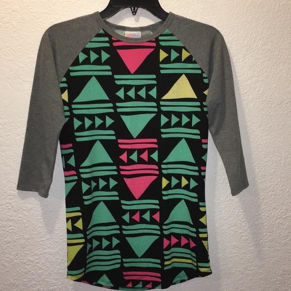 LuLaRoe Tops - Aztec style half sleeve shirt